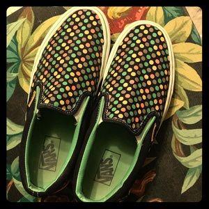 Classic polka dot slip on Vans
